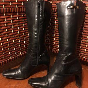 Enzo Angiolini Black Leather Boots (7.5)
